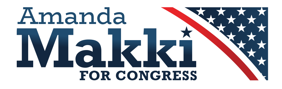 Logo for Amanda Makki for Congress